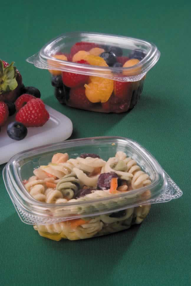 Clear hinged APET containers – recyclable deli containers