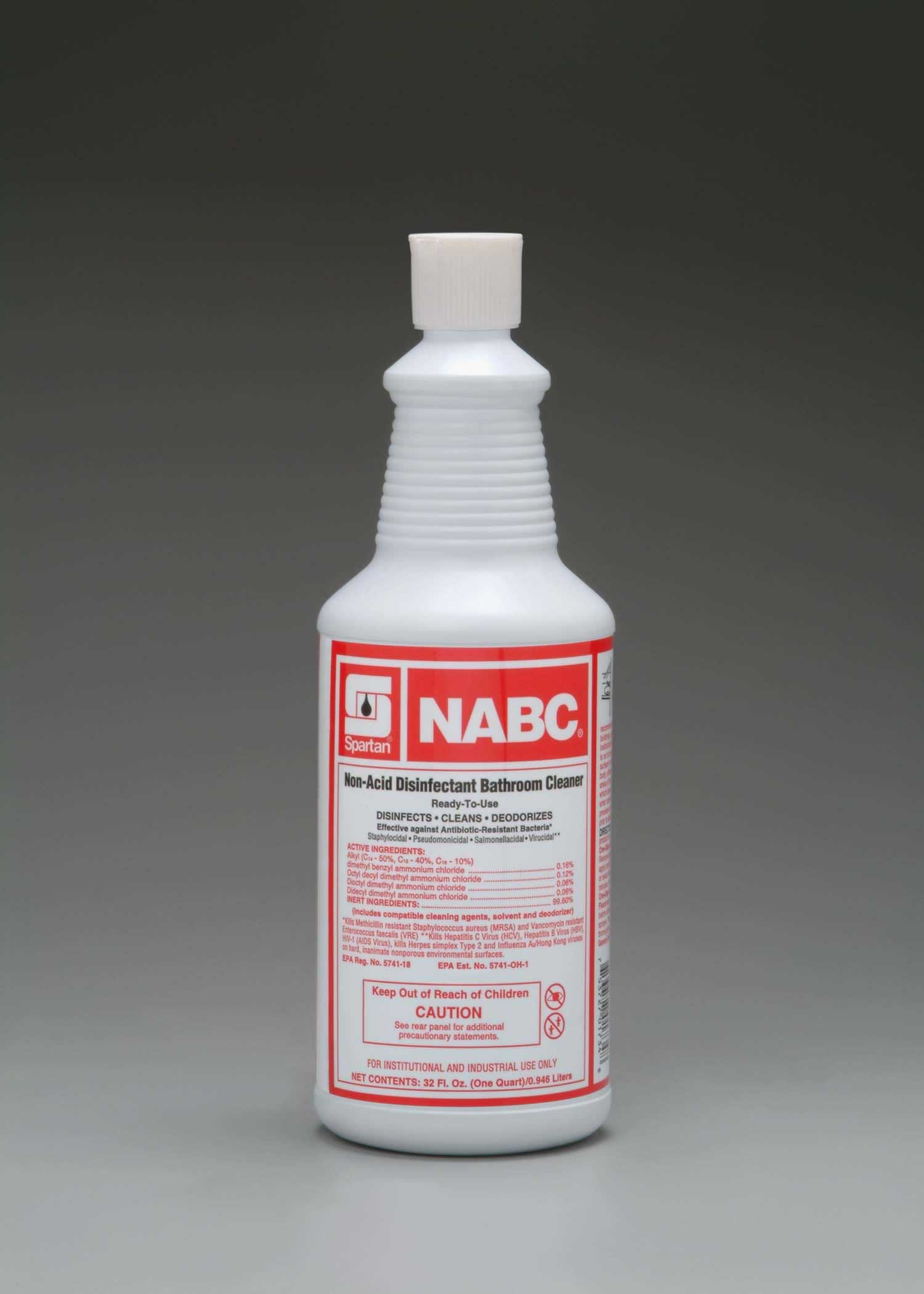 NABC non-acid disinfectant bathroom cleaner