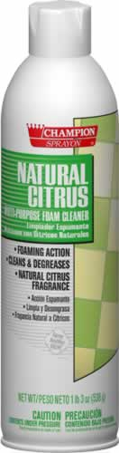 Natural Citrus foaming all-purpose cleaner and degreaser