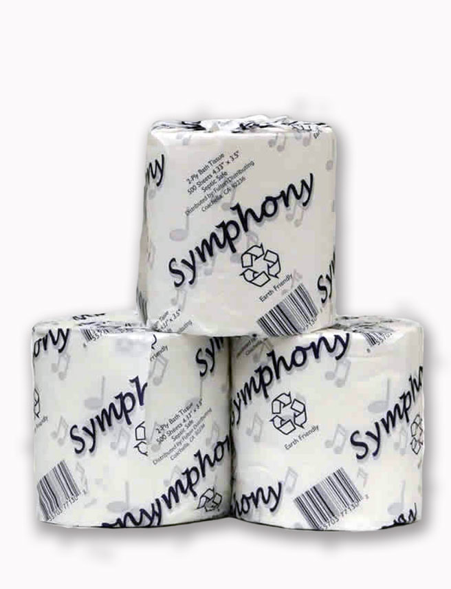 Symphony  toilet tissue – 2-ply rolls