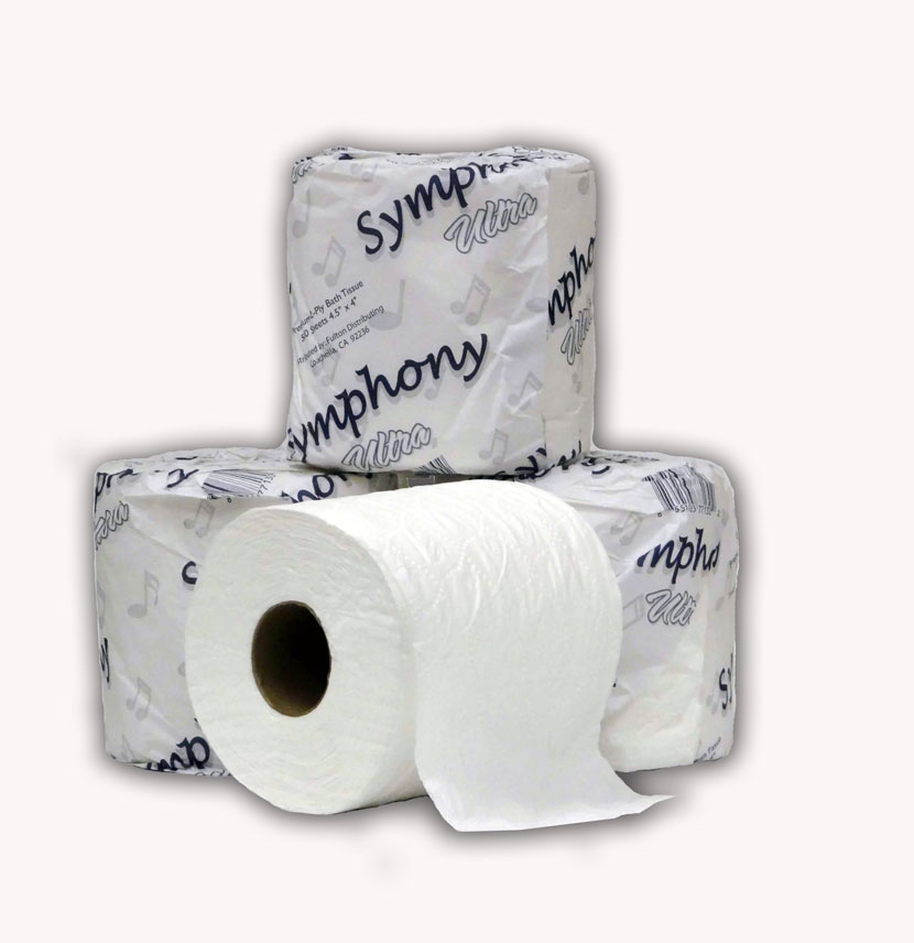 Symphony Ultra toilet tissue – 2-ply rolls