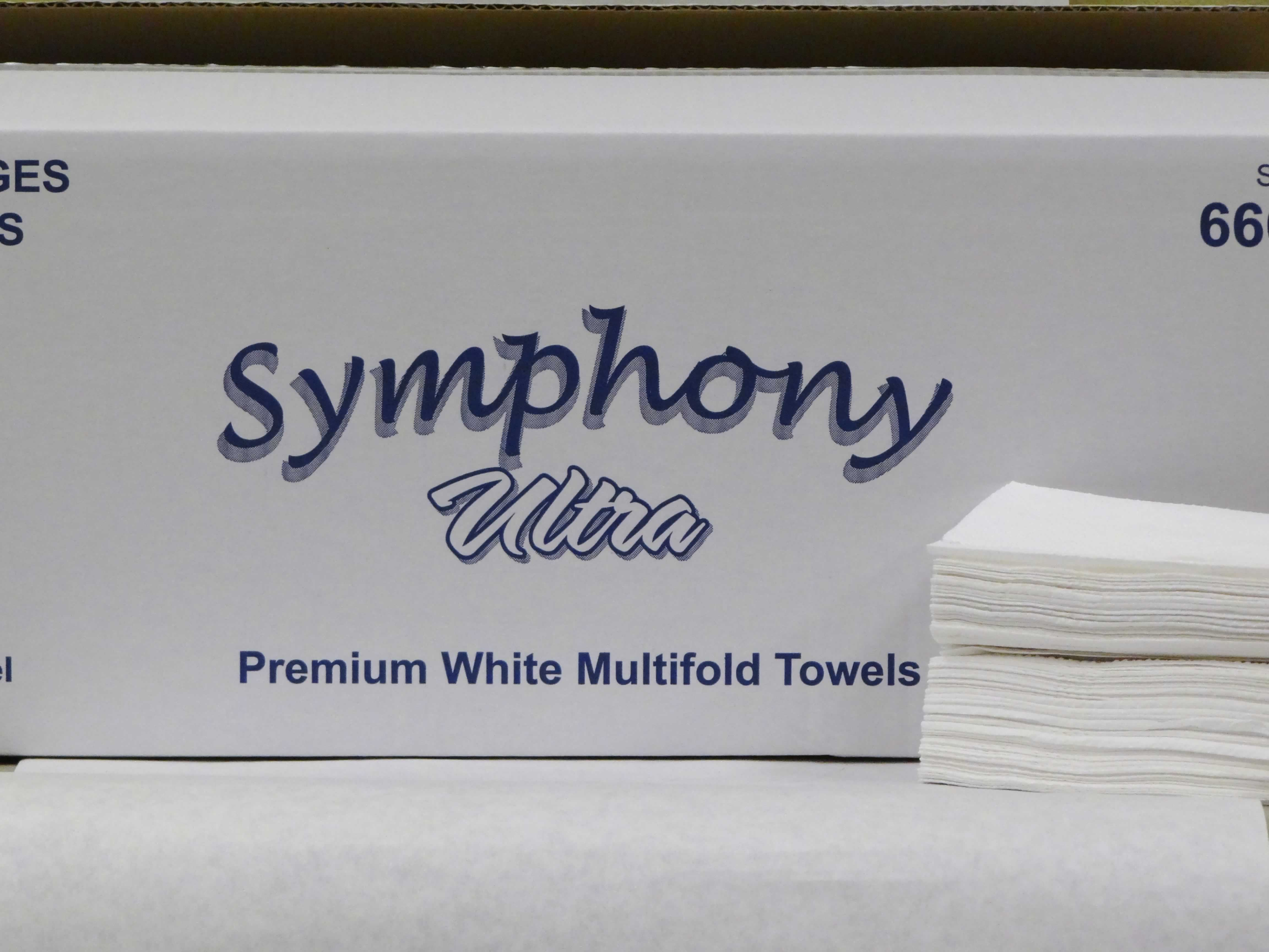 Symphony ultra-multifold white tissue