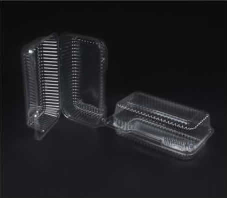 Durable hinged containers – clear plastic